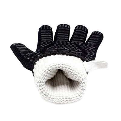 2er Set Hitzebeständige Grillhandschuhe bis zu 500 °C - EN407 EN420 CE Zertifizierte, Kaminhandschuhe, Kochenhandschuh, Ofenhandschuhe, Finger-Design zum Schutz gegen Schneiden, Silikon Aramidfasern, bequem und haltbar, Hitzebeständiger Handschuh für Barb