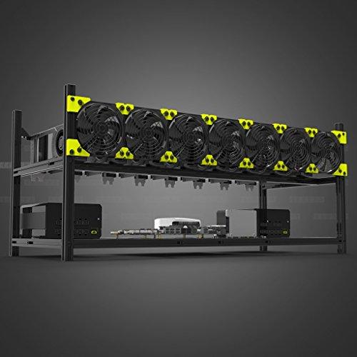Kyerivs Aluminio 8 GPU minería caso Rig aire libre marco para Eth/etc