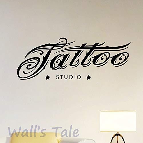 tattoo - studio - logo wand kunst aufkleber dekor mode cooles design tattoo - aufkleber tattoo studio schaufenster - dekoration 56x21cm kunst