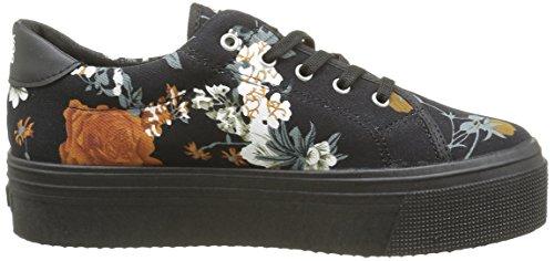 No Box Alma, Baskets Femme Noir (Flower Black)