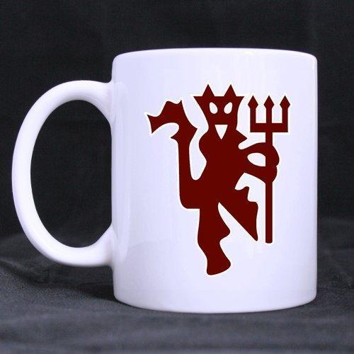 2buymore Tasse Cool Manchester United Devil Logo 11Oz Weiß Tasse 100% Keramik Kaffee/Tee weiß Cup