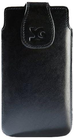 Original Suncase Echt Ledertasche für Samsung Galaxy Note 2 (N7100) und Note 2 LTE (N7105) schwarz