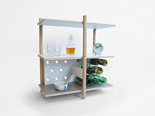 Pila Vino Bagagli - Conservazione del Vino - Stack Wine Storage - Olandese - Design - a mano - Living - Elettrodomestici - Legno - Modulare - Lorier - Mano Bagagli