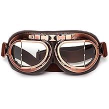 LEAGUE&CO Gafas Para Moto Viento Retro Vintage Gafas de Protección Gafas Piloto Gafas de Protección,