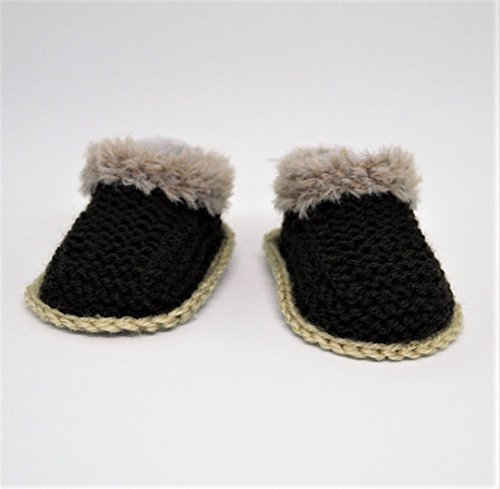 Baby Boy Booties, Baby Uggs style, Baby Shoes, Fur Booties, Baby Girl Booties, Winter boots, Fur boots, Baby Slippers, Brown booties (6 - 9 months)