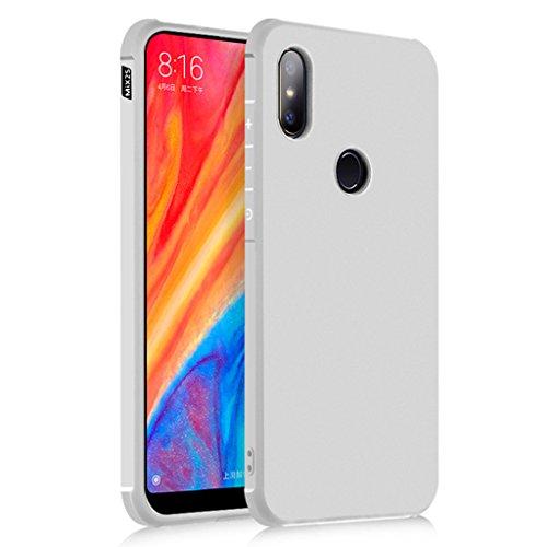 XiaoMi Mi Mix 2S Funda, Serie Negocios A Prueba de Choques Ultra Fino Suave Silicona Contraportada Caso para XiaoMi Mi Mix 2S (Gris claro)