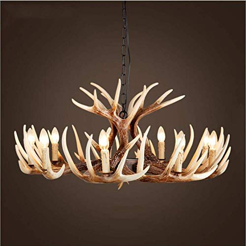 Led Decorative Light Ceiling Light Chandelier Stehlampe Taschenlampesheep'S Head Antler Chandelier Personality Creative Candle Lamp   C-9 Head -
