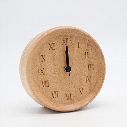 Schlafzimmer Solide Holz Nachttisch Uhr Stumm Studenten Kreative Wecker  Uhren Für Kinder Faul Uhr Wenig