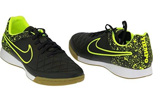 Nike Tiempo Genio Leather Ic, Scarpe da Calcio Uomo Nero / Verde (Nero / Nero-Volt)