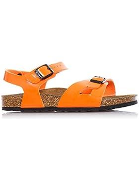 BIRKENSTOCK - Orangene Sandale aus Ökologischem Leder, Korkinnensohle, Jungen
