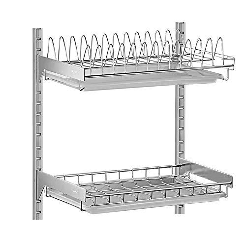 Shelf Estante-304 Acero Inoxidable montado en la Pared Plato de Drenaje desagüe/Cocina Colgante Plato/Estante de Almacenamiento de la Bandeja 42 * 40 * 26.5 cm