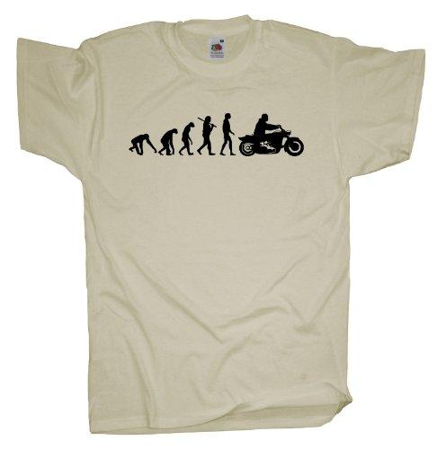 Ma2ca - Evolution - Biker T-Shirt Natural