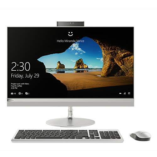 Lenovo ideacentre 520-22IKU All in One, Display 21.5 FHD, Processore Intel I3-6006U, RAM 4 GB, Storage 1 TB HDD, Grafica Condivisa, Windows 10, Argento, F0D500HNIX