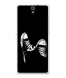 PrintVisa Designer Back Case Cover for Sony Xperia C5 Ultra Dual :: Sony Xperia C5 E5533 E5563 (Classy Design Of Sneakers In Black)