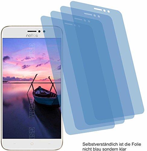 4ProTec 4X Crystal Clear klar Schutzfolie für TP-Link Neffos C7 Bildschirmschutzfolie Displayschutzfolie Schutzhülle Bildschirmschutz Bildschirmfolie Folie