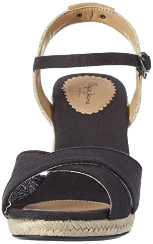 Pepe Jeans Shark Basic, Sandali Donna Nero (Black)