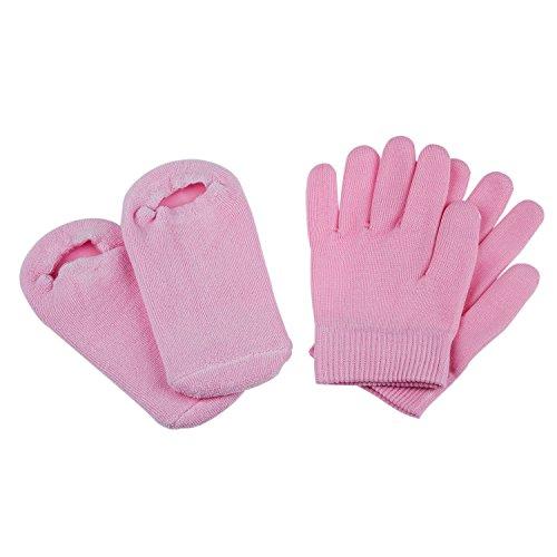 sodial-r-bellezza-spa-calze-guanti-di-idratazione-gel-terapia-cura-della-pelle-rose