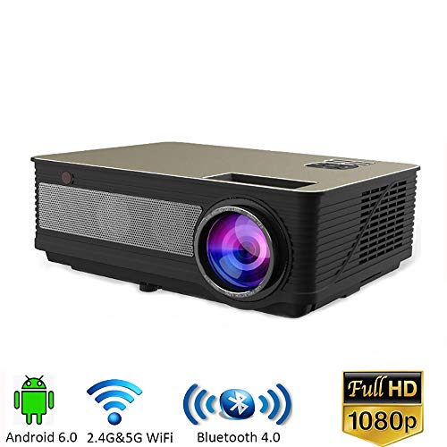 AI LIFE Neuester LED 1920x1080 HD Projektor 5000 Lumen LED 3D Heimkino-Videoprojektor für Theater Entertainment Games Parties,Black Ps3-home-theater