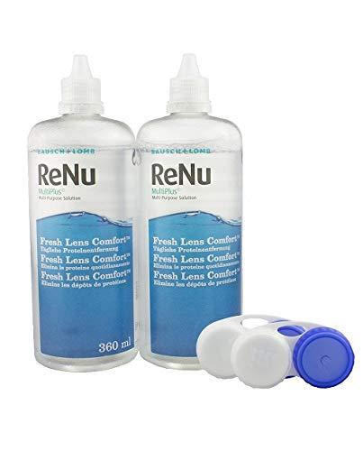 Bausch & Lomb ReNu MPS Pflegemittel für weiche Kontaktlinsen, Bigbox 2x 360 ml + 60ml - 3
