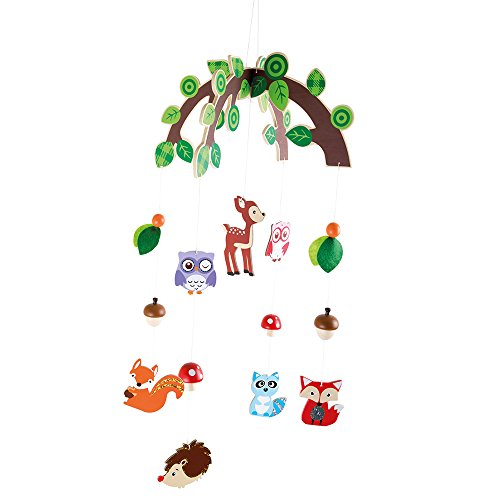 Small foot mobile giostrina animali del bosco, legno, 66.00x29.00x29.00 cm