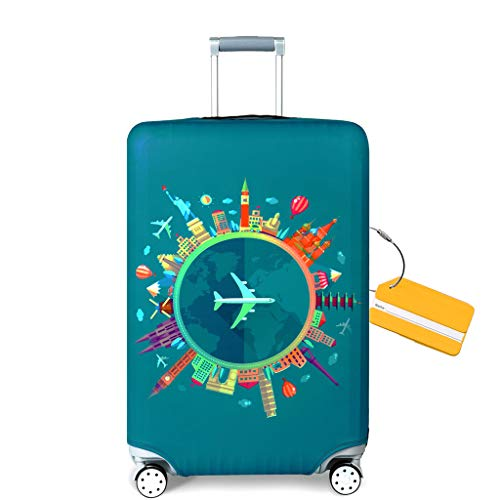 OrgaWise Luggage Cover con Cremallera, Suave de Anti-Polvo, Elástico Cabe 22-28 Pulgadas Funda Maleta...