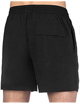 De Los Hombres Clásicos De La Lyle & Scott Swim Shorts, Negro