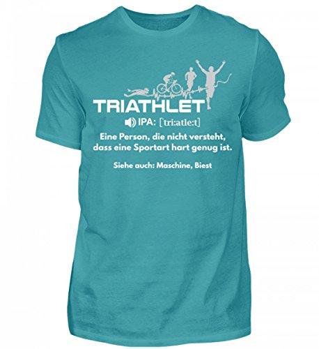 Shirtee Hochwertiges Herren Triathlon Sport-Bekleidung · Geschenkidee für Triathleten/Innen · Triathlon Motiv/Spruch (Bekleidung Herren Triathlon)