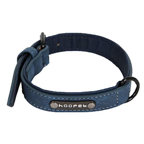 Saingace(TM) Haustier Halsband,Soft Velvet Hundehalsband Aus Leder Gepolstert Für Klein Große Hunde Personalisierte Dog Tags -