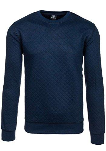 BOLF Herren Sweatshirt mit Rundhalsauschnitt Basic MAX&JENNY 1818 Dunkelblau XXL [1A1] |