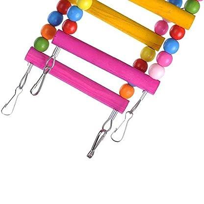 Rope Ladder Rainbow Bridge Bird Toy 27 Inch 6