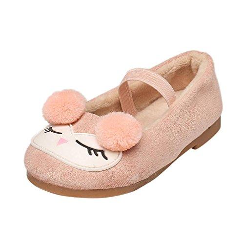 Xiahbong Zapatos para Niña Casual Zapatillas de Princesa de Dibujos Animados (1.5-2 años, Rosa)