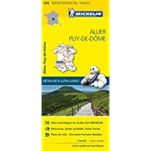 Carte Allier, Puy-de-Dôme Michelin