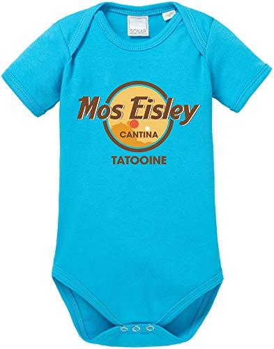 AngryShirts Mos Eisley Cantina Body Baby Kurzarm Bio Baumwolle (Luke Skywalker Baby-kostüm)