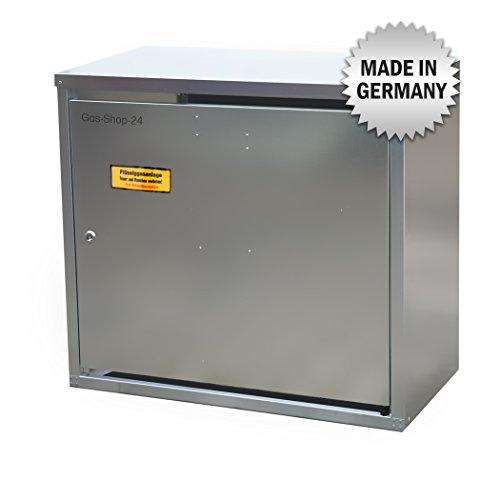 2 x 11 kg Propangas Flaschenschrank / Gasflaschenschrank verzinkt OHNE RÜCKWAND (geeignet für 3-, 5, 10, 11 kg Gasflaschen - Gasschrank Schutzschrank)