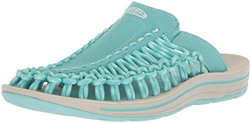 KEEN Women's Uneek Slide-W Sandal, Aqua Sea/Pastel Turquoise, 8.5 M US