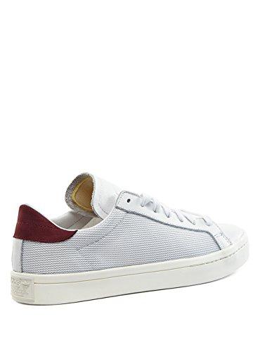 adidas Originals Court Vantage Hommes Baskets Blanc S78762 vintage white/chalk white/collegiate red