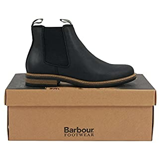 Mens Barbour Farsley Smart Leather Black Work Office Ankle Chelsea Boots 18