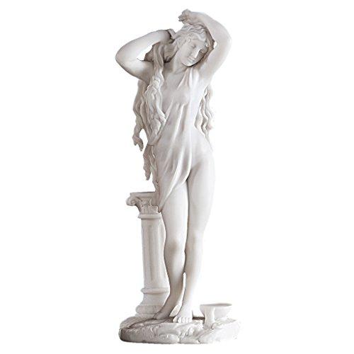 Design Toscano Aphrodite, griechische Göttin der Liebe, Kunstharzgebundene Marmorfigur, Maße: 11,5 x 9 x 28 cm -
