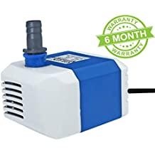 GLUN Submersible Pump for, Aquarium, Fountains, 18W, 1.6 m(Design & Colo May Vary)
