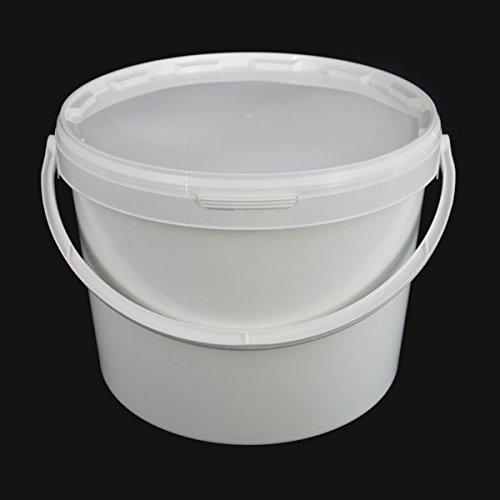 5Stück x 10Liter luftdicht Lebensmittelqualität weiß Catering mischen Kunststoff Eimer mit Deckel-Heavy Duty Industrie Catering Kitchen Qualität Food-service-container