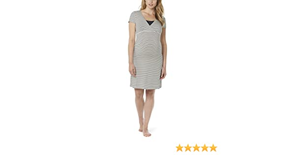 4b10f8a23f366 Noppies Damen Umstands Nachthemd Dress mit Stillfunktion  Amazon.de   Bekleidung
