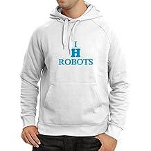 N4047H sudadera con capucha I hate Robots gift