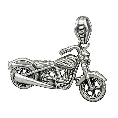 BELDIAMO Motorradfahrer Rocker Fleur de-Liss Flügel Totenkopf Anhänger 23 g ()