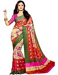 Reya Art silk Striped Bhagalpuri womens saree with blouse