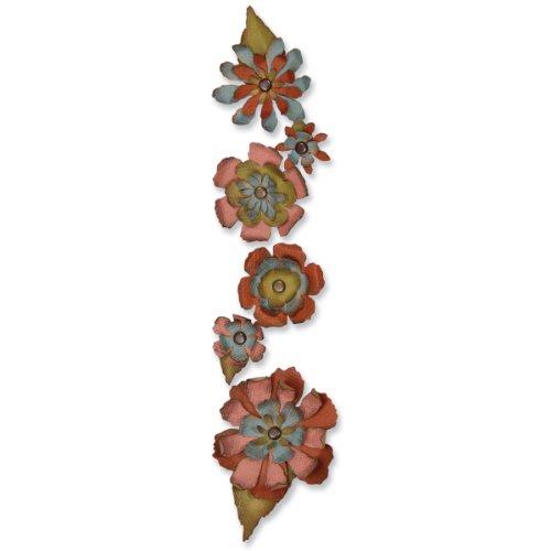 Sizzix Sizzlits Stanzplatte, dekorativ Tattered Flower Garland