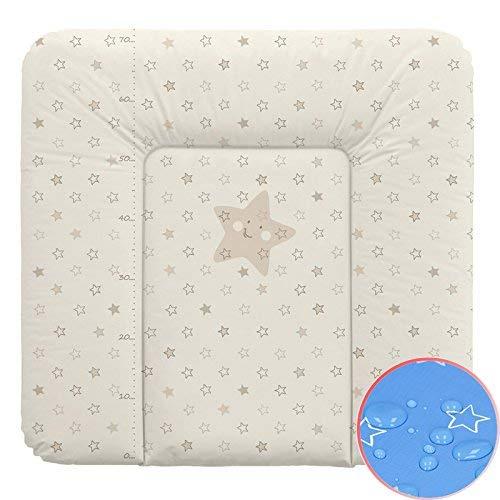Weiche Wickelauflage Vliesfüllung 70x75cm Sterne beige Wickeltischauflage Baby Auflage Wickeln