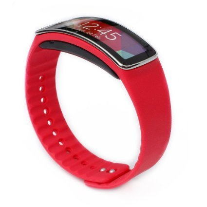Woodln Replacement Band Wrist Strap para Samsung Galaxy Gear Fit R350 Smart Watch (Red)