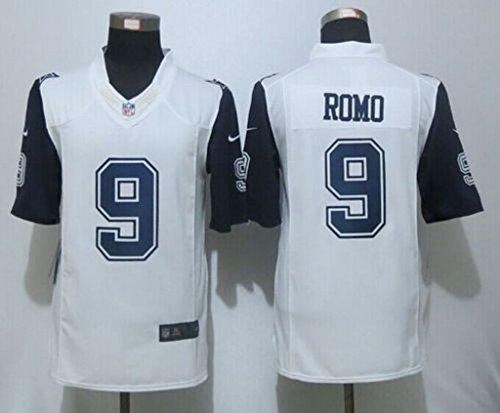 VVV Dallas Cowboys #9 Tony ROMO White Rush Size XXL Stitched Jersey Tony Romo Jersey