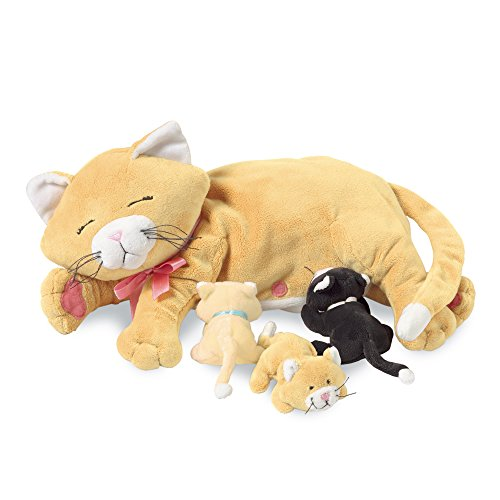 Manhattan Toy 107790 - Peluche, Mamma gatta con gattini