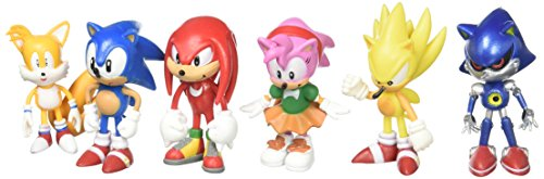 Sonic the Hedgehog Action Figure (6pcs-Set) [Toy] by Sonic The Hedgehog